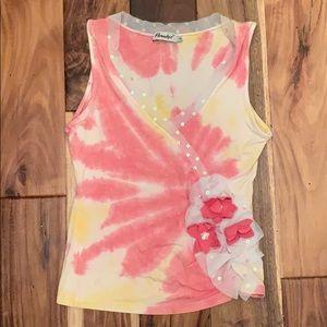 Whimsical embellished sleeveless top